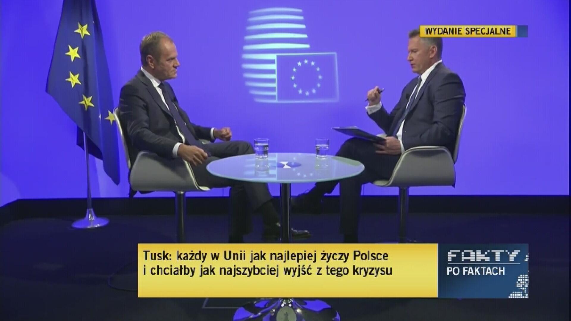 Tusk: uzależnianie wypłat UE dla Polski od stanu jej praworządności - niewłaściwe