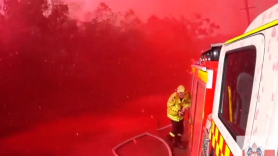 Wszędzie było czerwono. Niezwykła akcja gaśnicza w Australii
