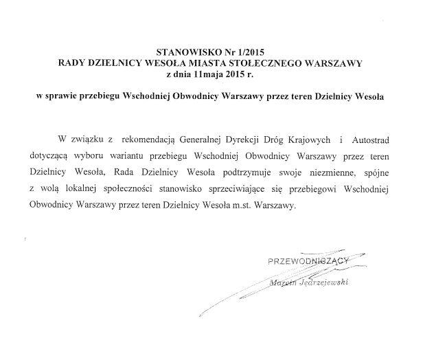 Stanowisko dzielnicy urząd dzielnicy Wesoła