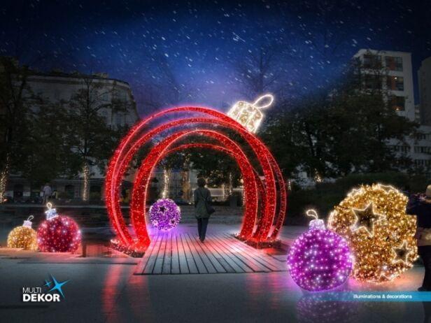 Świąteczne iluminacje w Warszawie UM