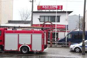 Pożar i ewakuacja wietnamskiej restauracji