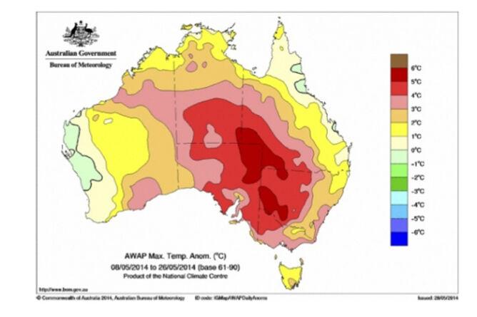Australijscy meteorolodzy twierdzą, że ich kraj jest coraz cieplejszy