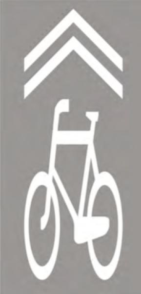 """Nowy znak poziomy P-27 (""""kierunek i tor ruchu roweru"""")"""