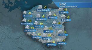 Prognoza pogody na noc 13/14.02